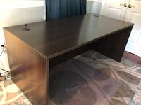 "Espresso laminate office desk 66""Lx30""Wx29""H Alexandria, 22306"