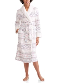 Soft fluffy plush robe, Scottish design, new in package, size XL