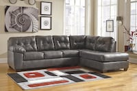 Brand New Signature Design Alliston Gray Faux Leather Right Arm Facing Sectional by Ashley 2272 mi