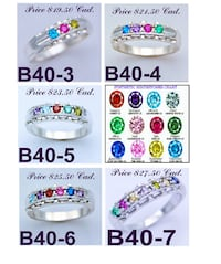 CUSTOM JEWELLERY / JEWELRY STYLES - Personalized Mother's Birthstones Family rings - .925 Solid Sterling Silver Markham