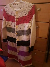 white and red knitted sweater Edmonton, T5A 2N4