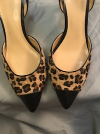 Kitten heel Giraffe or Leopard print women's shoes