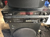 Pioneer receiver small dent on the top works well, Sony 12 inch sub woofer and a pair of Bose 901 speakers. The system sounds really good make a perfect radio for a shop garage or even in your home, it's very loud. East Syracuse, 13057
