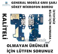 GENERAL MOBİLE GM8 ŞARJ SÖKET MİKROFON BORDU UYGUN FİYAT Denizköşkler