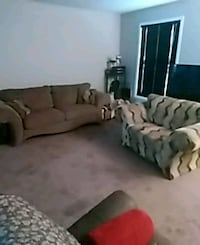 7foot 3 seat couch brown extrawide sofa Burlington, L7P 1G4