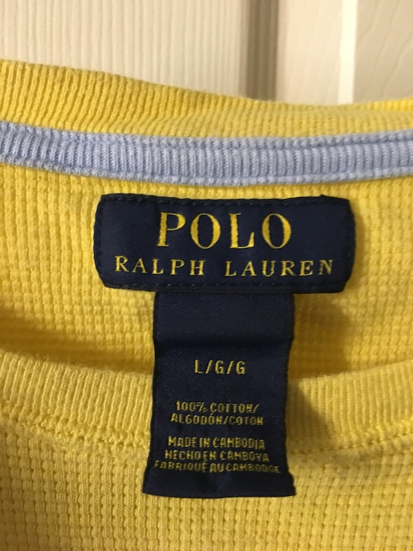 Two (2) Men's size Large (L) Ralph Lauren Long Ts da3e73e1-2a30-49d5-8387-27c198827f44