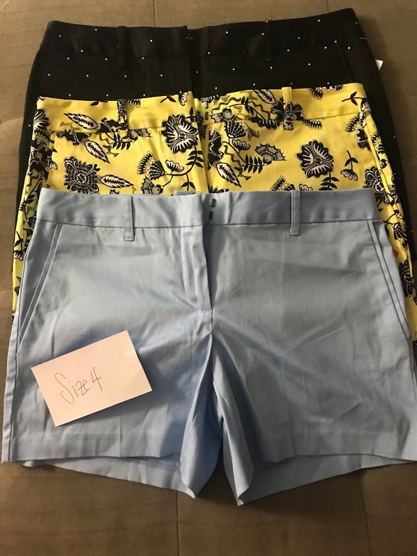 3 pairs of shorts - size 4 NWT