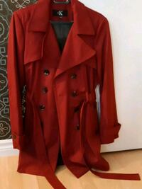 Women's Red Fall Coat Size Medium Belmont, N0L