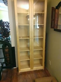 brown wooden framed glass display cabinet Lakeside, 92040