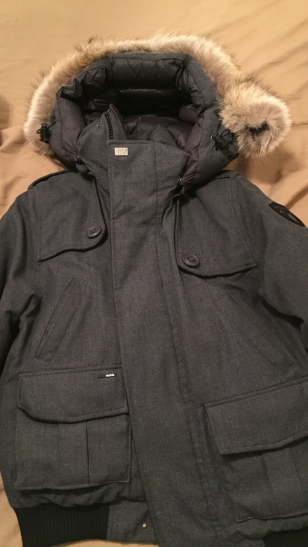 27ac5f932f1 Men s Nobis Charcoal Wool Cartel Bomber (limited edition) winter jacket