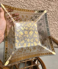 Mid Century Georges Briard Gold Leaf Glass Tray Las Vegas, 89123