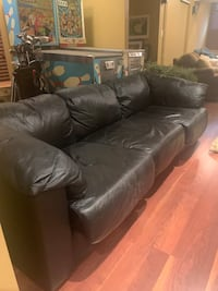 Black leather sofa Toronto, M5M 1R9