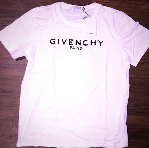 Givenchy Men's Destroyed Logo Slim Fit T Shirt 80590530-930d-40bf-a2ad-91659176eb7d