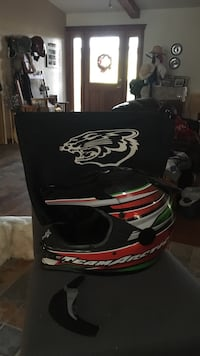 Red, gray, and black motocross helmet with box Grand Junction, 81505