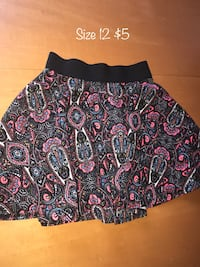 black and blue paisley mini skirt College Station, 77840