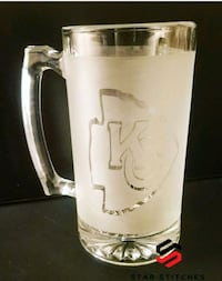 Etched glass KC beer mug Houston