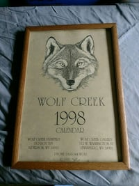 Framed Calendar Collectible Wolf Creek 1998 cool (LG 120-11) Manassas, 20109