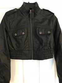 black leather zip-up jacket Frederick, 21702