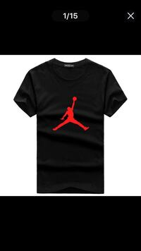 JORDAN BLACK MENS MEDIUM T SHIRT DELIVERY ONLY!!! null, UB10 0BE