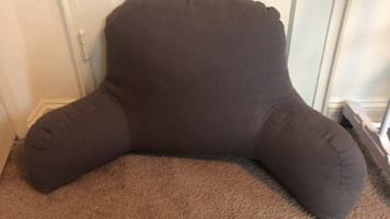 gray fabric sofa chair
