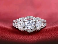 $14 NEW sz 7, 8 or 9 silver plated CZ ring  Ballwin, 63021
