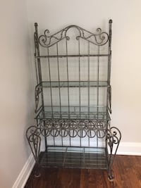 Bakers  rack with glass shelves. Toronto, M4S 1M2