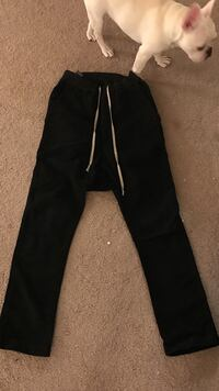Black straight cut pants from Rick Owens