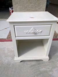 White nightstand removable decals