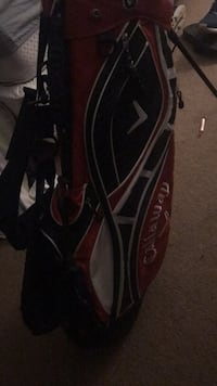 Black and red golf bag Stony Brook, 11790
