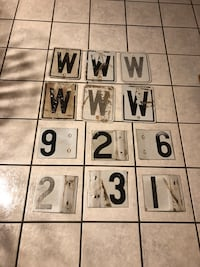 Old Metal Letter/Number Signs Canyon, 79015
