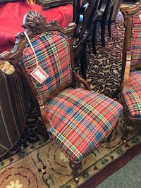 Red Plaid (Her) Chair