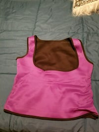 girl's pink and brown tank top
