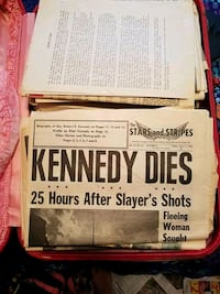 Kennedy Dies newspaper Fargo, 58104
