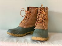 Women's LL Bean Boots, Chamois lined Woodbridge, 22192