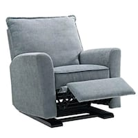 gray fabric padded armchair with ottoman Montréal, H4E 3H8