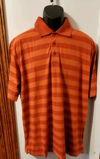 Cutter And Buck Short Sleeve Collared Striped Shirt Middletown, 21769
