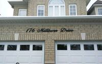 Custom home address script signs Markham