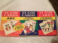 ABC Flash Cards-26 Alphabet Cards,10 Shapes, 10 Colors, 17 Counting, 10 Numbers.   Monroeville, 15146