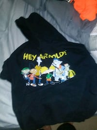 black Hey Arnold!-printed pullover hoodie Odessa, 79761