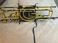 Vintage MGD lighted neon beer sign Fresno, 93720