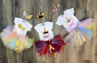 First birthday unicorn outifts $30 each! Brand new! Edmonton, T6W 2C3
