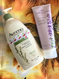 Large Aveeno  body lotion new & White Lavender body lotion new together