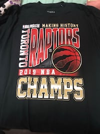 Raptors Champion T shirts