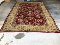 Brown and red floral area rug Manhattan, 66503