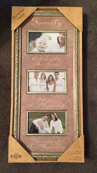 gold and brown Family photo frame
