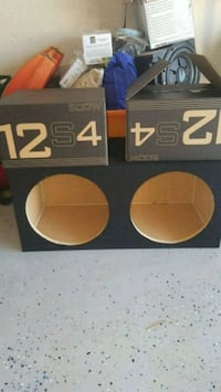 two black and white subwoofer boxes Ocala, 34472