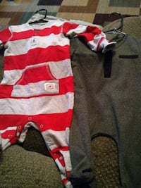 baby's red and gray footie pajama McAllen