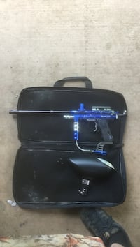 black and blue paintball marker with hopper Montgomery Creek, 96065