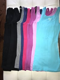 13 small Mossimol Long ribbed tank tops