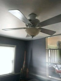 White ceiling fan.  Tinicum Township, 19029
